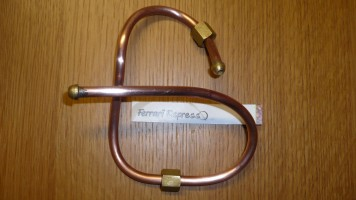 PIPE COPPER 1/8F X1/8F 40cm FOR CAPPILLARY GAUGE  Isomac